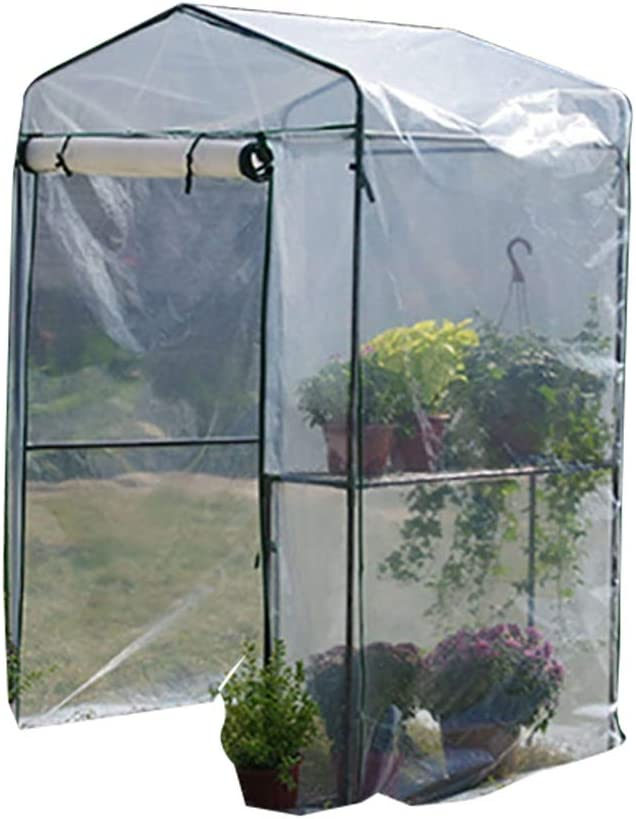 Ygo Waterproof Greenhouse Hot House with Zipper Doors for Garden,Patio,Home,Backyard (Color : White)