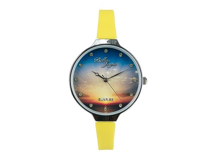 Bella joya de mujer Fashion Reloj Sunrise amarilla, banda: Amazon.es: Relojes