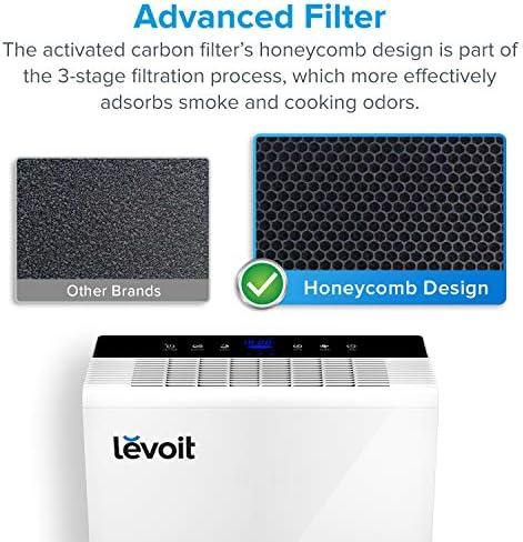 levoit purificador de aire con True HEPA filtro, limpiador de olor ...