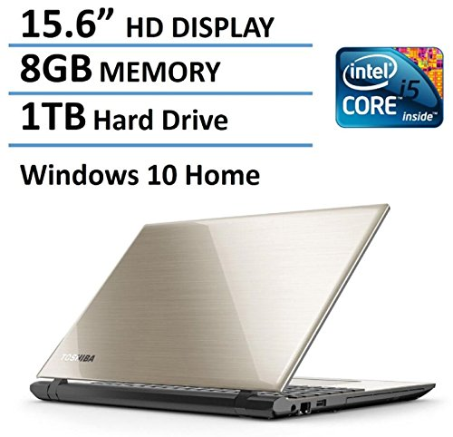 Toshiba Satellite L55 15.6-Inch Laptop (Intel Core i5-5200U, 8GB RAM, 1TB HDD, DVD+/-RW, WIFI, HDMI, Webcam, Bluetooth, Windows - Toshiba Laptop L55
