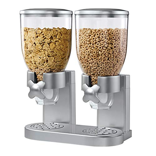 Zevro KCH-06124/GAT202 Indispensable Dry Food Dispenser, Dual Control, Silver (Renewed) ()