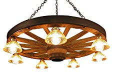 Rustic Wagon Wheel Chandelier