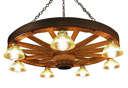 Rustic wagon wheel chandelier amazon kitchen home rustic wagon wheel chandelier mozeypictures Choice Image