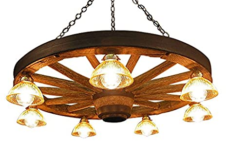 Good Rustic Wagon Wheel Chandelier