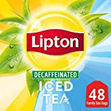 Lipton Family-Sized Black Iced Tea Bags, Decaffeinated, Unsweetened, 48 ct