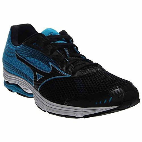 Mizuno Men's Wave Sayonara 3 Running Shoe, Black/Atomic Blue, 10 D US