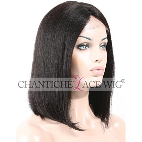 f5608d56f lovely Chantiche New Style Short Bob Light Yaki Straight Remy Human Hair  Lace Front Wigs Invisible