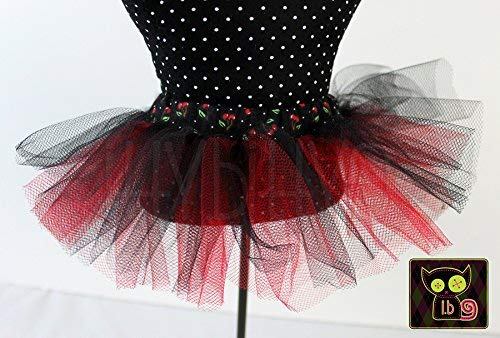 Black /& Red Tulle Tutu for 18 Inch Dolls