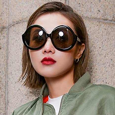 VVIIYJ Gafas de sol femeninas grandes Cara redonda Gafas de ...