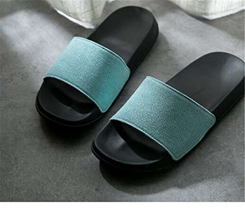 face Denim Plastic women Summer Female Thick Couple Skid blue Slippers Bottom TELLW Male Indoor Fabric Anti HxBAzz