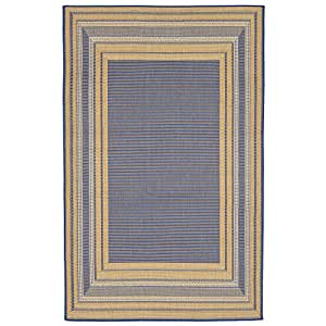 "Liora Manne ter802761532761/53grabado frontera topacio alfombra, interior/exterior, 7""10"" x910"", azul"