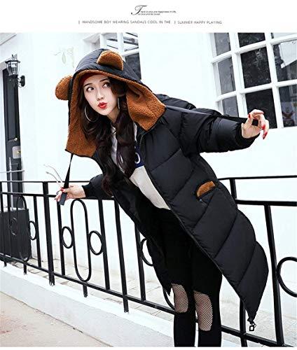 Stampato Abiti Moda Donna Inverno Lungo Parker Con Cerniera Piumino Tasche Frontali Cappotto Cappuccio Stile Alla Schwarz qWFHfx4Xw