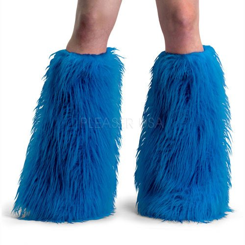 Faux Fur Boot Sleeves(One Size-Blue/Fur)