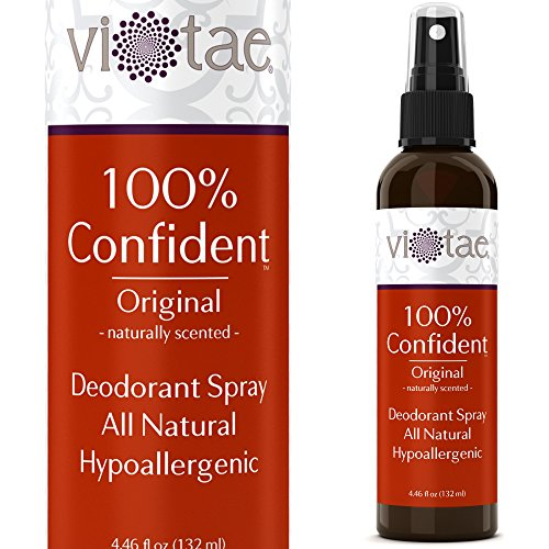 100% Natural, Aluminum Free Deodorant Spray - Original Patchouli - '100% Confident' - Use Underarm, On Hands & On Feet. - by Vi-Tae® 4.46oz