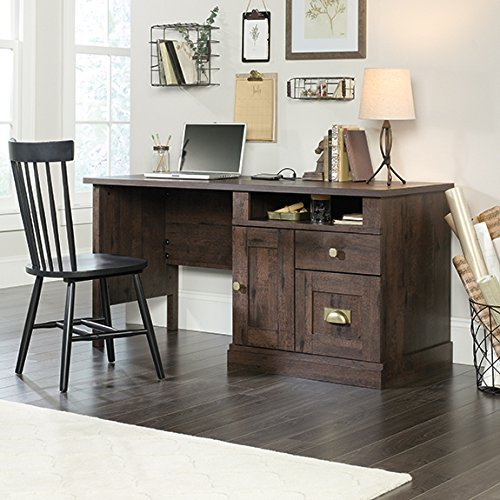 Sauder New Grange Computer Desk in Coffee Oak