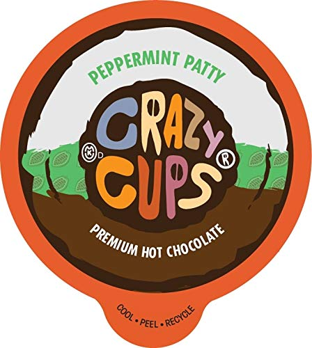 (Crazy Cups Seasonal Hot Chocolate, Peppermint Patty Premium Hot Chocolate Hot Cocoa, Single Serve Cups for Keurig K Cup Brewers, 22 Count)