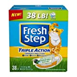 Fresh Step Cat Litter Triple Action Odor Control Scoopable, Scented - 38 lb