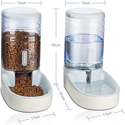 UniqueFit - Comedero automático para Mascotas, Gatos, Perros y Gatos, 3,8 l, con 1 dispensador de Agua y 1 alimentador automático para Mascotas 3