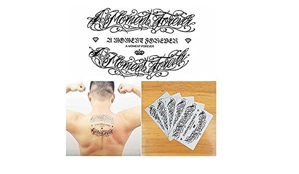 Amazon.com : Miss Flora Temporary Tattoo, Large Tattoo English Words ...