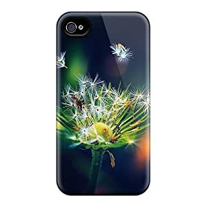Special MeSusges Skin Case Cover For Iphone 4/4s, Popular Flying Dandelion Seeds Phone Case