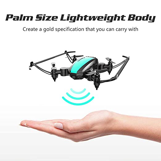 TwoCC-Mini Drone plegable con LED Luci, 3D VR, modo sin cabeza ...