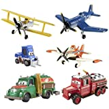 Disney PLANES: Fire & Rescue Exclusive 1:55 Deluxe Die Cast 6-Pack Dustys Homecoming [Dottie, Chug, Mayday, Supercharged Dusty, Skipper & Leadbottom] by Unknown