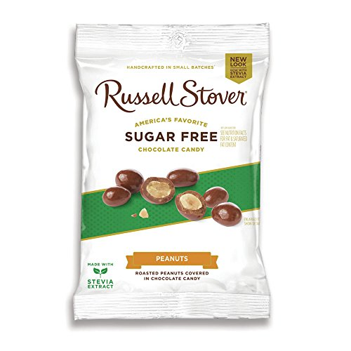 - Russell Stover Sugar Free Chocolate Covered Peanuts, 3.6 oz. Bag