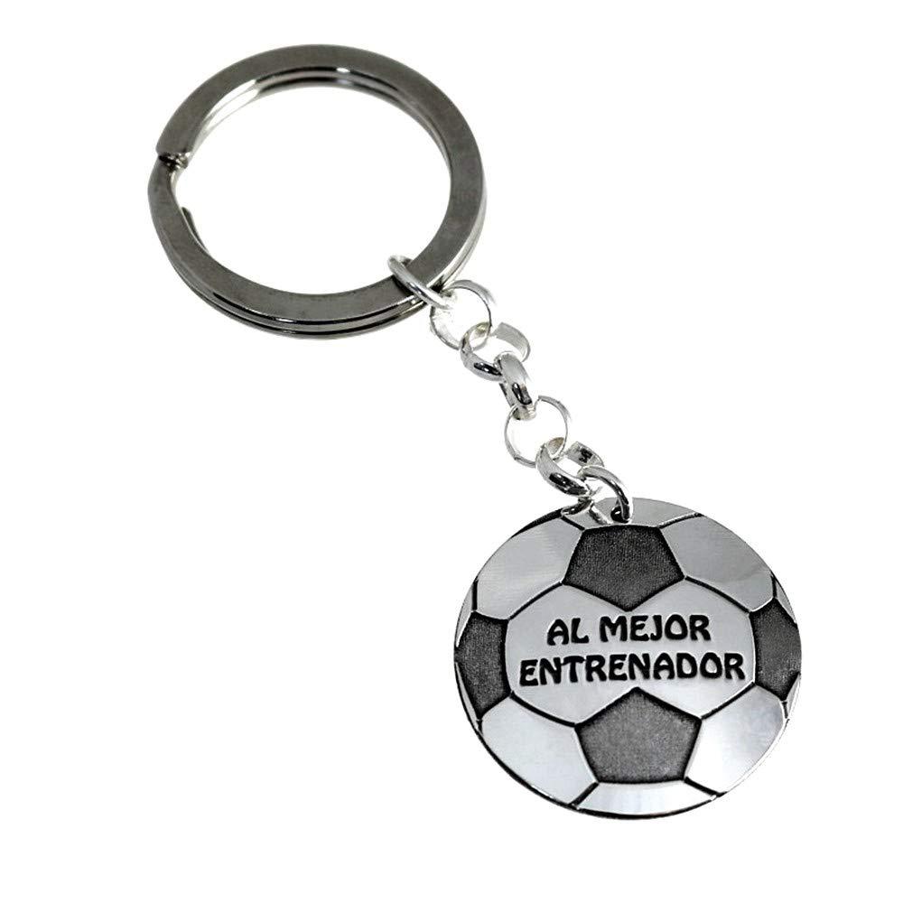 Llavero Plata Ley 925M Fútbol 30mm Al Mejor Entrenador ...