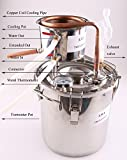 DIY 3 Gal 12 Liters Home Distiller Moonshine Alcohol Still Stainless Boiler Copper Thumper Keg