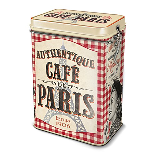 Natives Paris Caja hermética para café, Metal,, 13 x 8.5 x 18 cm 211151