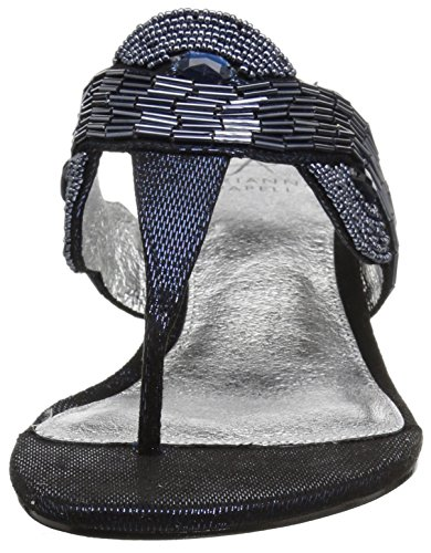 Wedge Coco Metallic Navy Adrianna Steely Women's Papell Sandal xSCwwZ1Rq