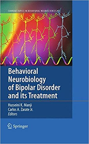 Book Behavioral Neurobiology of Bipolar Disorder and its Treatment (Current Topics in Behavioral Neurosciences)