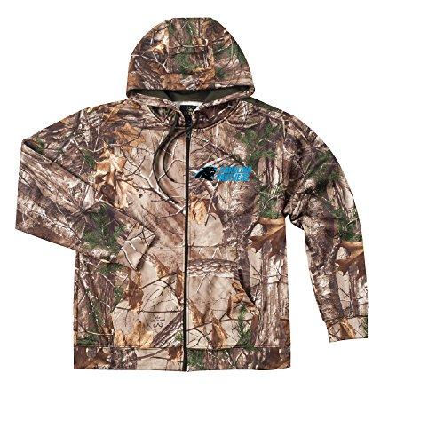 - NFL Carolina Panthers Camo Trophy Xtra Tech Fleece Full Zip hoodie, 4X