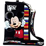 #8: Disney Lanyard with Detachable ID Badge Holder Wallet Coin Purse Ticket Iphone Key Chain (Mickey BLACK)