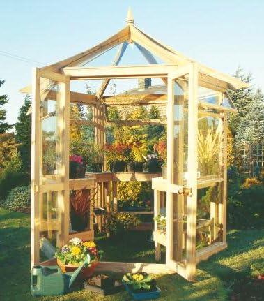Jardín Verde - Invernadero Hexagonal de Madera