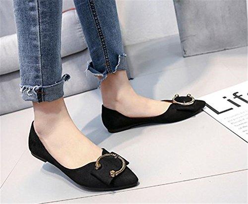 Slip Dress Women's Flats Black Loafer On Shoes Cloudless Ballet Foldable vXOn0CwC