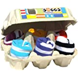 Xplorys Soggs! Six Pairs Of Stripe Baby Socks Packed In An Egg Box