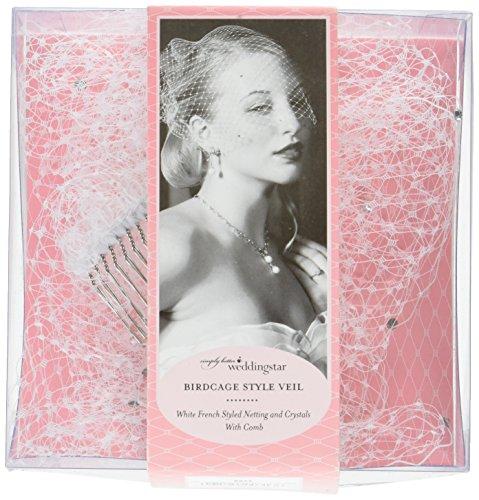 Weddingstar 8973 Veil-Bird Cage Style Wht W/Crstls