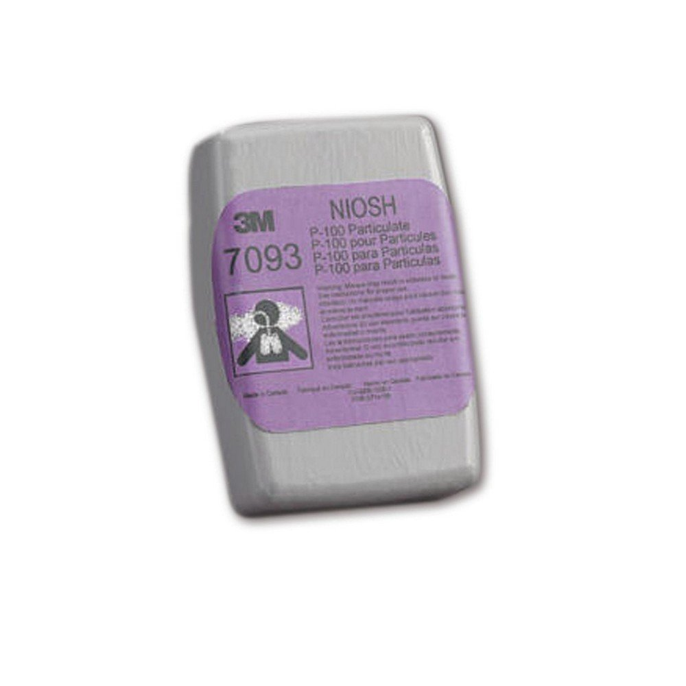 3M 50051131527053 P100 Particulate Filter, 7093B, Grey/Purple (Pack of 12) by 3M
