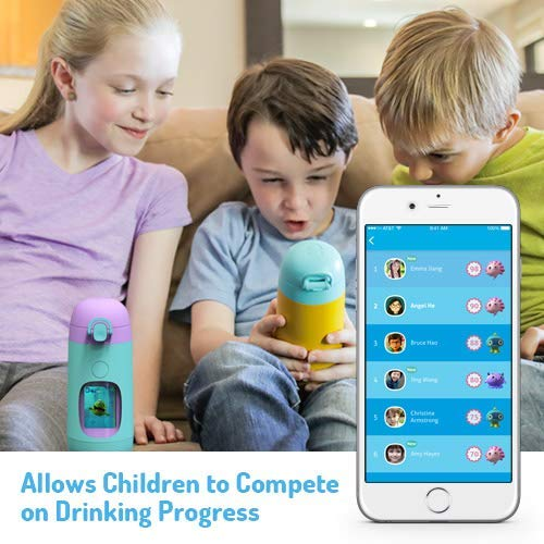 Smart Water Bottle for Kids - GululuGo Interactive Water Bottle Includes Games and Stories Along with a Health Tracking Smartphone App, 350ml Smart Water Bottle for Kids by Gululu (Image #4)