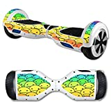 MightySkins Protective Vinyl Skin Decal for Hover Board Self Balancing Scooter mini 2 wheel x1 razor wrap cover sticker Happy Faces