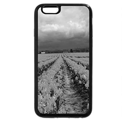 iPhone 6S Case, iPhone 6 Case (Black & White) - Field of daffodils