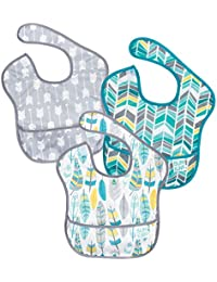 SuperBib, Baby Bib, Waterproof, Washable, Stain and Odor Resistant, 6-24 Months, 3-Pack - Feathers, Quill, Arrows