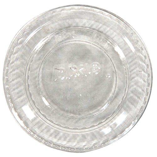 Sauce Dixie - Dixie Lid, fits 1 Ounce Plastic Souffle Cup Clear -- 4800 per case.