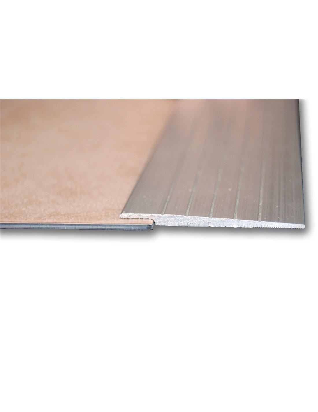 Jardin202 2mm alt 3m larg Perfil Aluminio 2-5-8 mm Altura Taladrado 50mm anch