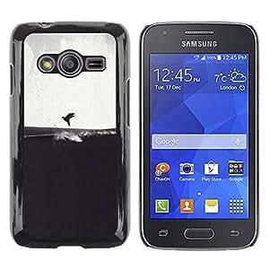 Be Good Phone Accessory // Dura Cáscara cubierta Protectora Caso Carcasa Funda de Protección para Samsung Galaxy Ace 4 G313 SM-G313F // Gray Bird Sea Art Drawing