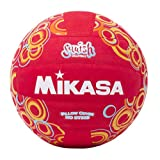 Mikasa Squish VSV104 No-Sting Volleyball (Red/Circles)
