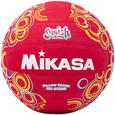 Mikasa All Purpose Volleyball, Water Proof-No Sting Cover Ball-Red ...
