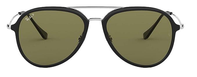 0bb60a39c4 Ray-Ban RB4298 Polarized Unisex Pilot Sunglasses Black 601 9A - 57mm   Amazon.co.uk  Clothing