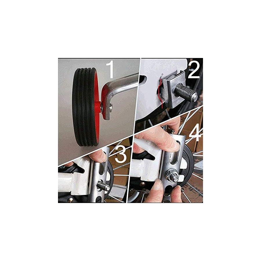 Hifans Training Wheels for 12 14 16 18 20Inch Bike Bicycle Training Wheels Bike Accessory Support Wheels Kids Bike Stabilizer